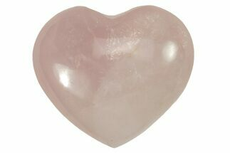 "Buy 1.4"" Polished Rose Quartz Heart - #115456"