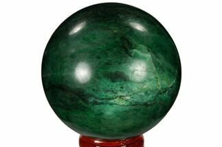"2.4"" Polished Swazi Jade (Nephrite) Sphere - South Africa For Sale, #115562"