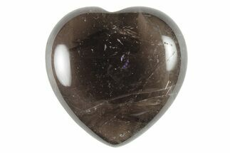 "1.6"" Polished Smoky Quartz Heart For Sale, #116264"