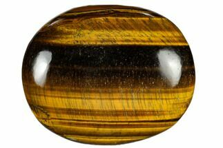 "2.5"" Polished Tiger's Eye Palm Stone - South Africa For Sale, #115547"