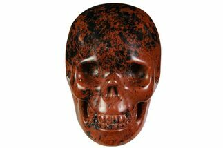 "2"" Realistic, Polished Mahogany Obsidian Skull For Sale, #116315"