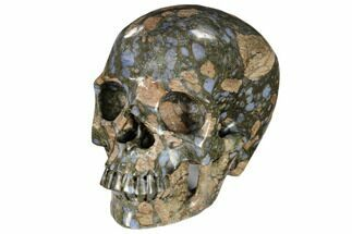 "5"" Carved, Que Sera Stone Skull - Brazil For Sale, #116378"