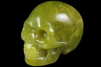 "Buy 2"" Realistic, Polished Jade (Nephrite) Skull - #116437"