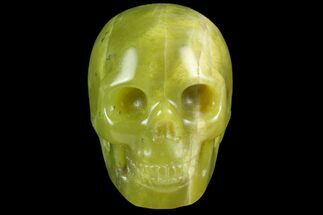 "Buy 2"" Realistic, Polished Jade (Nephrite) Skull - #116440"