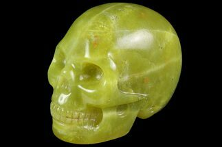 "Buy 2"" Realistic, Polished Jade (Nephrite) Skull - #116443"