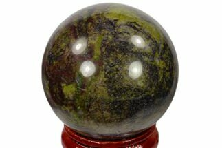"Buy 1.6"" Polished Dragons Blood Jasper Sphere - Australia - #116107"