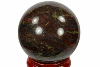 "1.6"" Polished Dragon's Blood Jasper Sphere - Australia For Sale, #116111"