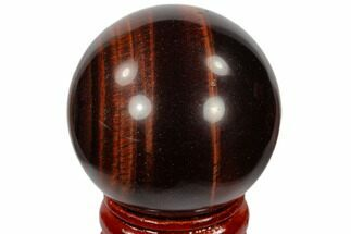 "1.6"" Polished Red Tiger's Eye Sphere - South Africa For Sale, #116093"
