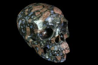 "4.9"" Carved, Que Sera Stone Skull - Brazil For Sale, #116675"