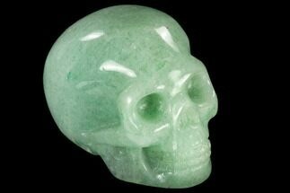 "2"" Realistic, Polished Green Aventurine Skull  For Sale, #116807"
