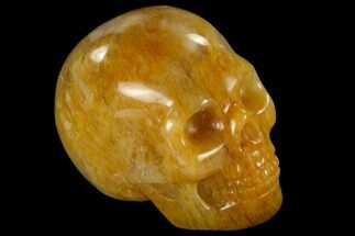 "Buy 1.9"" Realistic, Polished Yellow Aventurine Skull  - #116821"