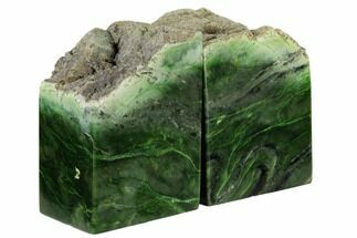 "Buy 5.5"" Tall, Polished Jade (Nephrite) Bookends - British Colombia - #117214"