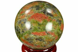 "Buy 1.55"" Polished Unakite Sphere - Canada - #116122"