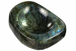 "Buy 6.7"" Polished, Flashy Labradorite Bowl - Madagascar - #117250"