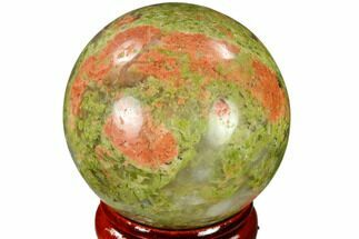 "Buy 1.55"" Polished Unakite Sphere - Canada - #116134"