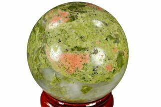"Buy 1.55"" Polished Unakite Sphere - Canada - #116137"