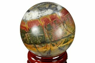 "Buy 1.55"" Polished Cherry Creek Jasper Sphere - China - #116206"