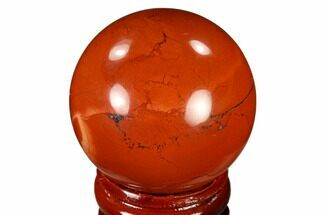 "1.6"" Polished Red Jasper Sphere - Brazil For Sale, #116030"