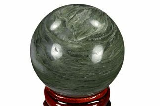 "Buy 1.6"" Polished Green Hair Jasper Sphere - China - #116227"