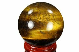"1.6"" Polished Tiger's Eye Sphere - South Africa For Sale, #116054"