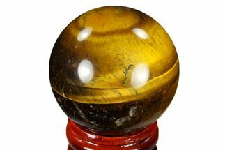 "1.6"" Polished Tiger's Eye Sphere - South Africa For Sale, #116057"