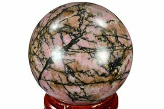 "1.55"" Polished Rhodonite Sphere - India For Sale, #116162"