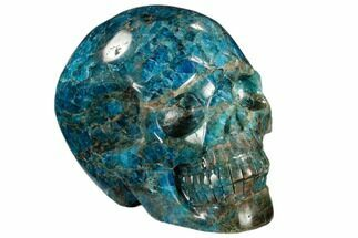 "Buy 4.6"" Polished, Bright Blue Apatite Skull - Madagascar - #118093"