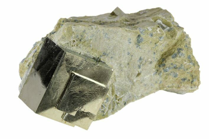 "1.08"" Pyrite Cube In Rock - Navajun, Spain"