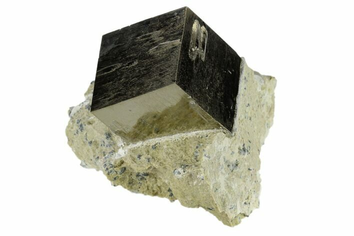 "1.21"" Pyrite Cube In Rock - Navajun, Spain"