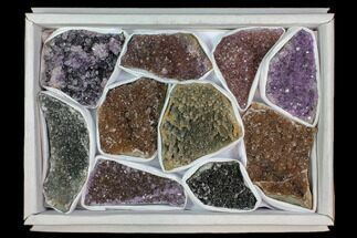 Buy Wholesale Lot: Druzy Amethyst/Quartz Clusters (10 Pieces) - #118363