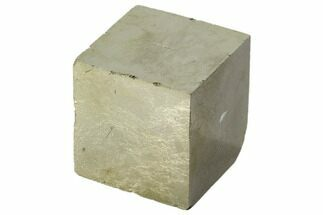 "Buy Bargain, 1.07"" Shiny, Natural Pyrite Cube - Navajun, Spain - #118297"