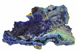 Rosasite, Malachite & Azurite  - Fossils For Sale - #119508