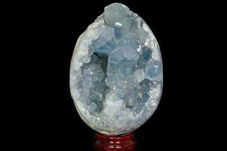 "4.7"" Crystal Filled Celestine (Celestite) ""Egg"" Geode - Madagascar For Sale, #119360"