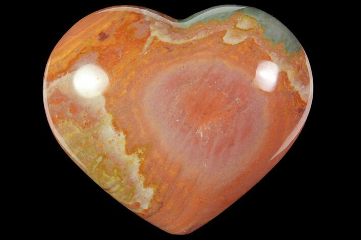 "2.85"" Wide, Polychrome Jasper Heart - Madagascar"