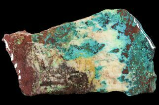 "4.8"" Chrysocolla & Malachite Slab From Arizona - Clear Coated For Sale, #119747"