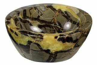 "Buy 5.2"" Polished Septarian Bowl - Madagascar - #120214"