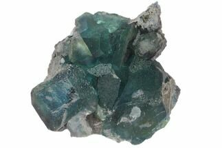 "2.8"" Blue-Green Fluorite on Sparkling Quartz - China For Sale, #120332"