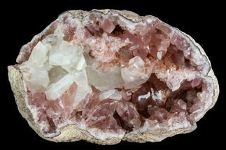 Quartz var. Pink Amethyst & Calcite - Fossils For Sale - #120462