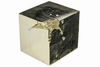 "Buy Bargain, 1.03"" Shiny, Natural Pyrite Cube - Navajun, Spain - #118321"