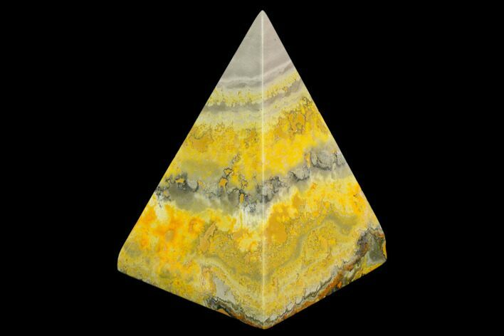 "2.8"" Polished Bumblebee Jasper Pyramid - Indonesia"