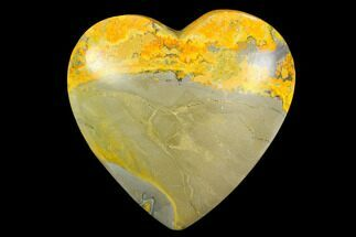 "Buy 3.1"" Polished Bumblebee Jasper Heart - Indonesia - #121216"