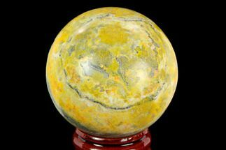 "1.9"" Polished Bumblebee Jasper Sphere - Indonesia For Sale, #121223"