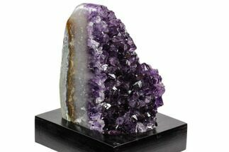 "Buy 4.2"" Tall, Dark Purple Amethyst Cluster With Base - Uruguay - #121438"