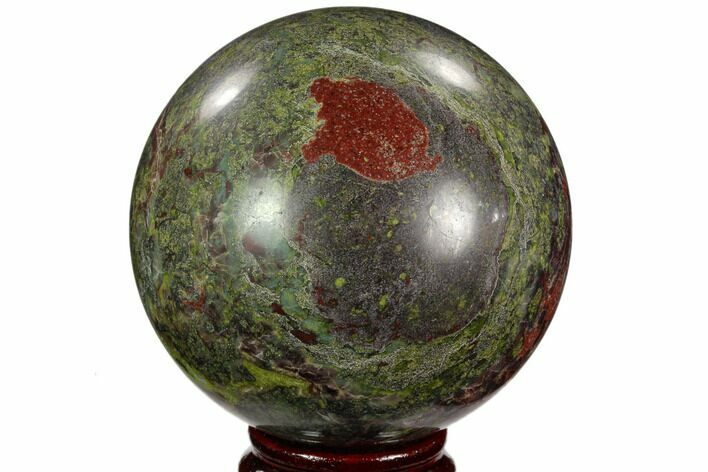 "3.2"" Polished Dragon's Blood Jasper Sphere - South Africa"