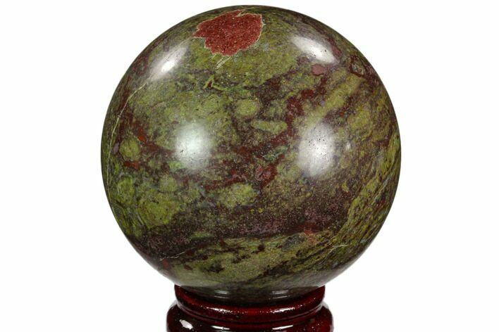 "2.9"" Polished Dragon's Blood Jasper Sphere - South Africa"
