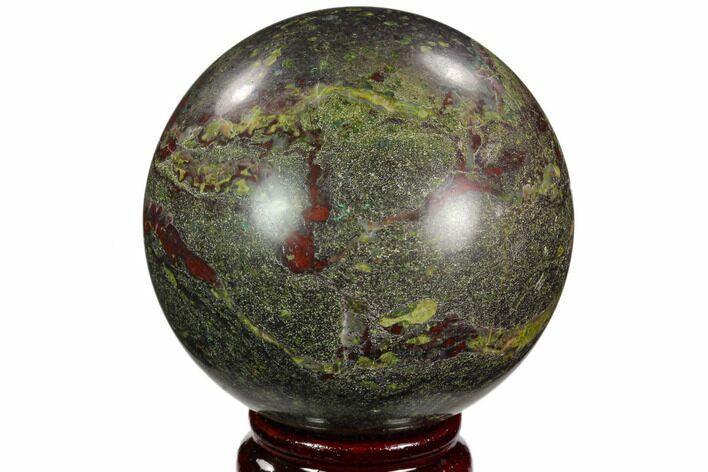 "3"" Polished Dragon's Blood Jasper Sphere - South Africa"