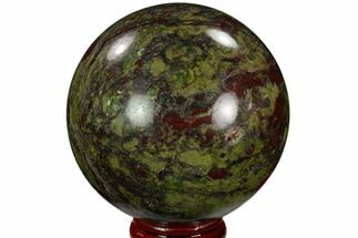 "2.6"" Polished Dragon's Blood Jasper Sphere - South Africa For Sale, #121577"