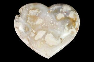 "Buy 3.75"" Polished Flower Heart - Madagascar - #121768"