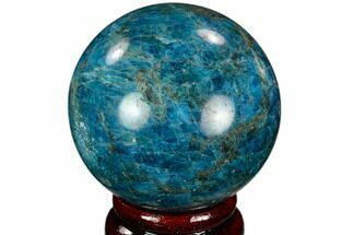 "2.35"" Bright Blue Apatite Sphere - Madagascar For Sale, #121829"