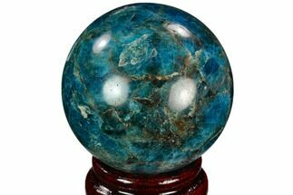 "2.15"" Bright Blue Apatite Sphere - Madagascar For Sale, #121838"